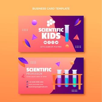 Modelo horizontal de cartão de ciência gradiente