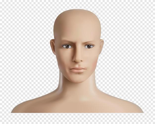Modelo humano com rosto,
