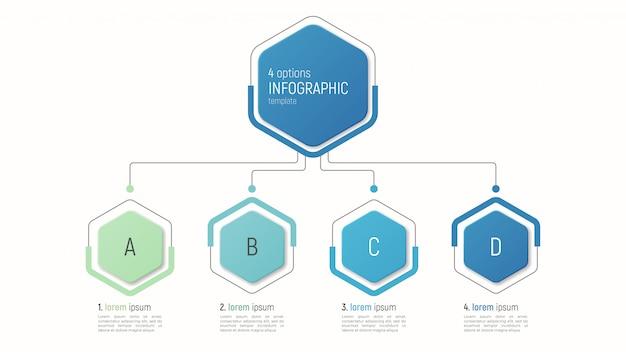 Modelo iinfográfico para visualização de dados. opções