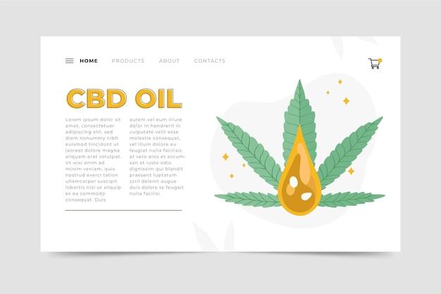 Modelo ilustrado da web de óleo de cannabis