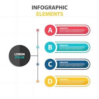 Modelo infográfico de negócios abstratos coloridos