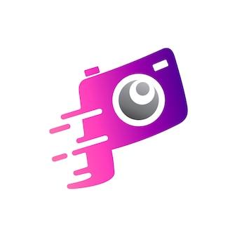 Modelo inicial do logotipo da letra da câmera p