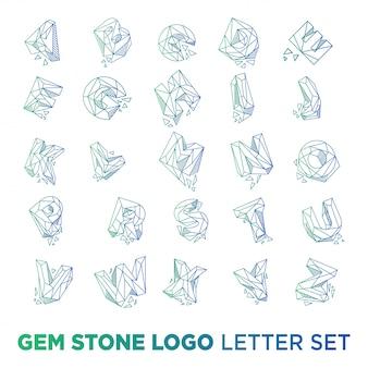 Modelo inicial do logotipo de pedras preciosas az