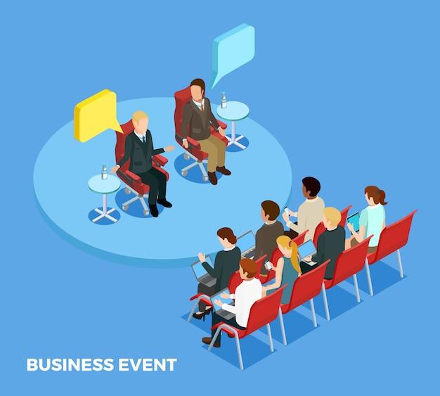 Modelo isométrico de coaching de negócios