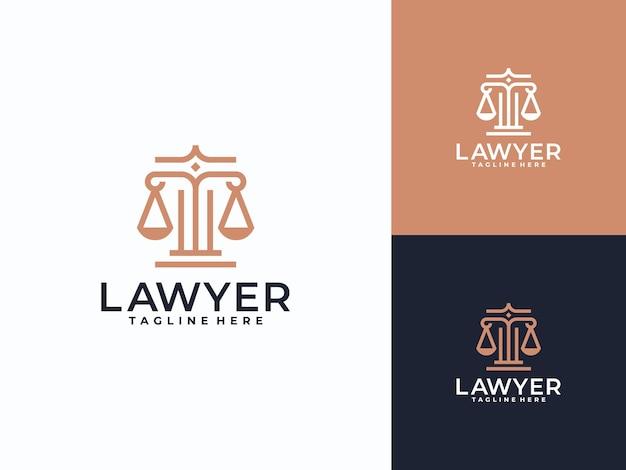 Modelo linear de logotipo para advogado, advogado, advogado
