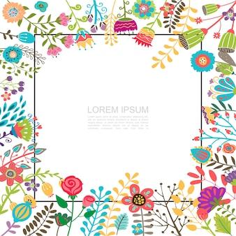 Modelo liso floral florescente brilhante