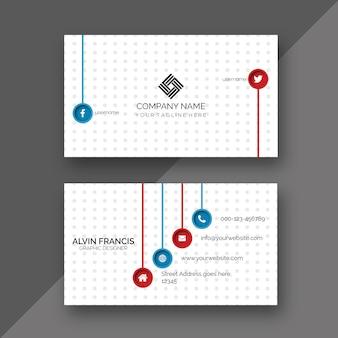 Modelo minimalista branco do cartão de visita