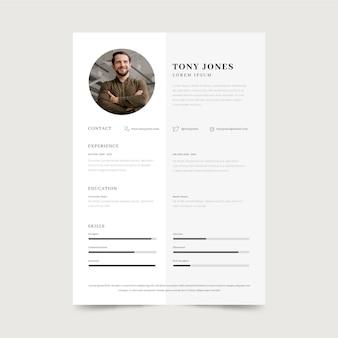 Modelo minimalista de candidatura a emprego
