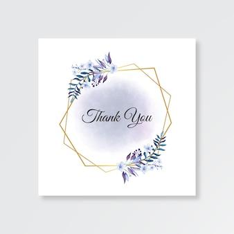 Modelo minimalista de cartão de agradecimento