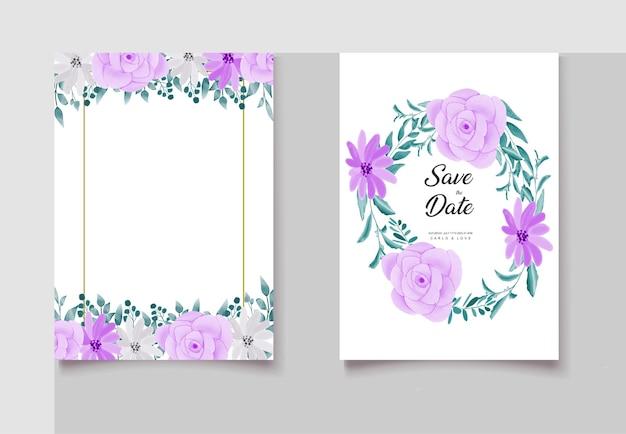 Modelo minimalista de cartão de casamento