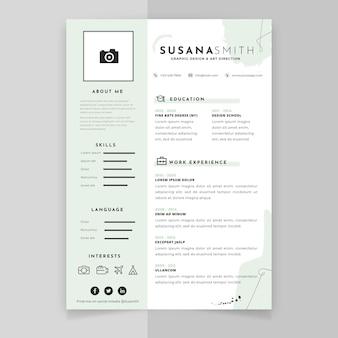 Modelo minimalista de curriculum vitae