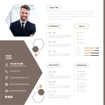 Modelo minimalista de cv online