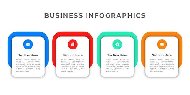 Modelo minimalista de infográficos de negócios