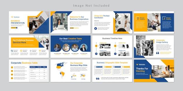 Modelo mínimo de apresentação de slides de negócios.