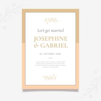 Modelo mínimo de cartão de casamento