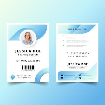 Modelo mínimo de cartões de identificação