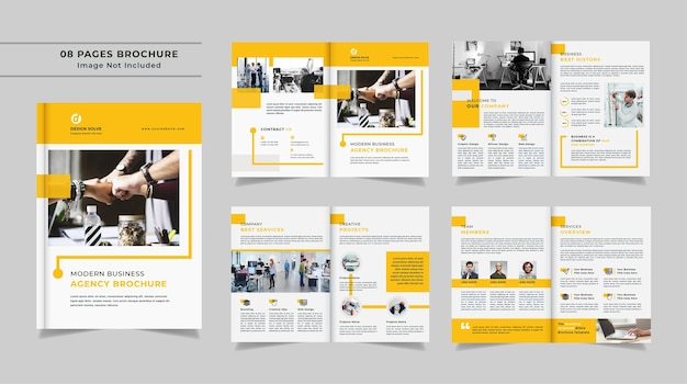 Modelo mínimo de folheto de perfil da empresa