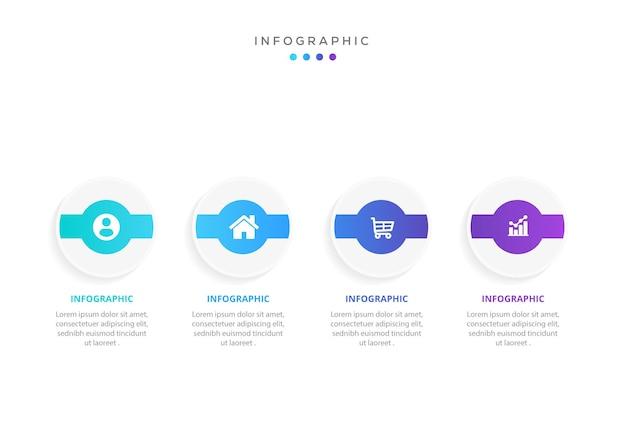Modelo mínimo de infográficos de negócios