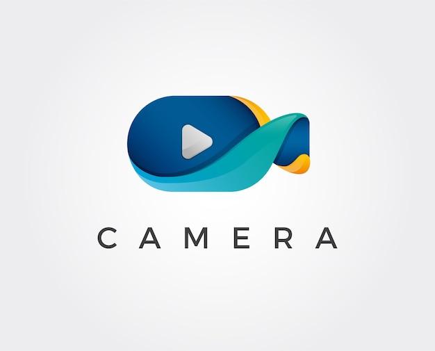 Modelo mínimo de logotipo de câmera