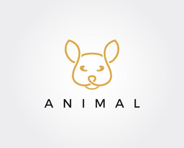 Modelo mínimo de logotipo de gato selvagem