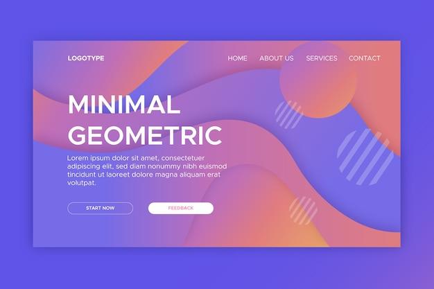 Modelo mínimo geométrico da página de destino