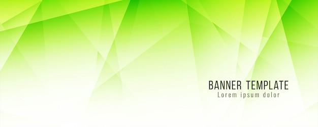 Modelo moderno abstrato verde bandeira poligonal