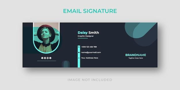 Modelo moderno de assinatura de e-mail