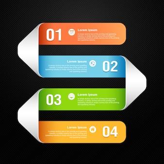 Modelo moderno de banner numerado em cores