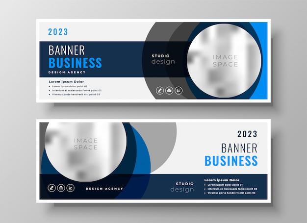 Modelo moderno de banners de negócio abstrato círculo