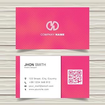 Modelo moderno de cartões de visita de meio-tom rosa