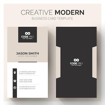 Modelo moderno de cartões de visita