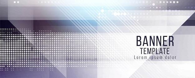 Modelo moderno de design abstrato banner