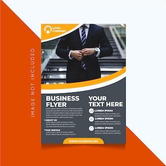 Modelo moderno de estilo de panfleto de negócios