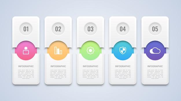 Modelo moderno de infográfico 3d