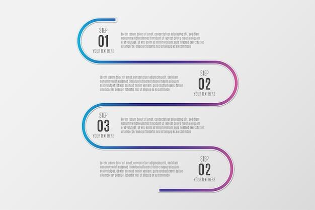 Modelo moderno de infográfico colorido
