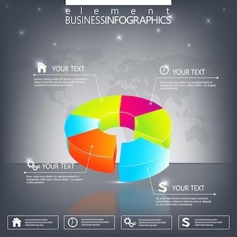 Modelo moderno de infográfico. pode ser usado para layout de fluxo de trabalho, diagrama, gráfico, opções de números, design de web.