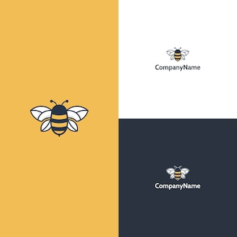 Modelo moderno de logotipo de abelha