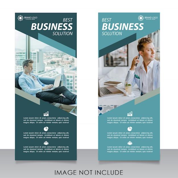 Modelo moderno de negócios de banner de rollup