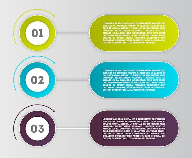 Modelo moderno de negócios infográficos