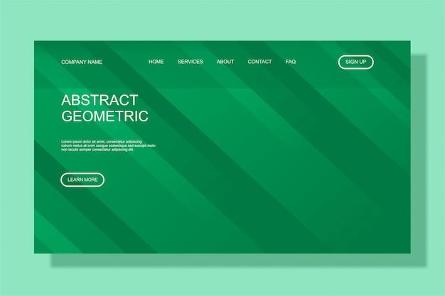 Modelo moderno de página de destino colorido para site de negócios