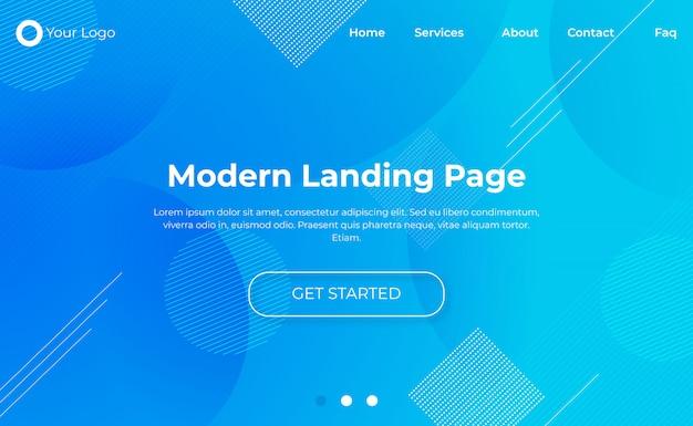 Modelo moderno de página de destino
