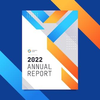 Modelo moderno de relatório anual de negócios de 2022