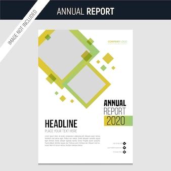 Modelo moderno de relatório anual