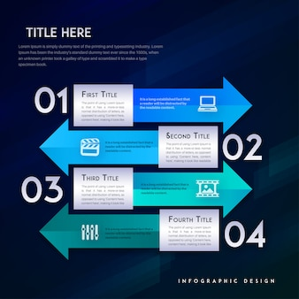 Modelo moderno de vetor infográfico