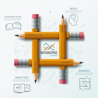Modelo moderno infográfico