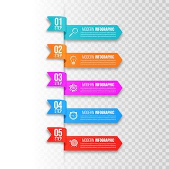 Modelo moderno para a criação de infográficos