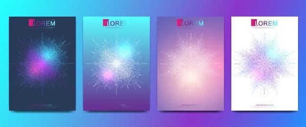 Modelo moderno para ilustração de brochura