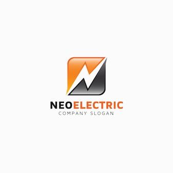 Modelo neo de logotipo elétrico