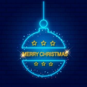 Modelo neon de feliz natal