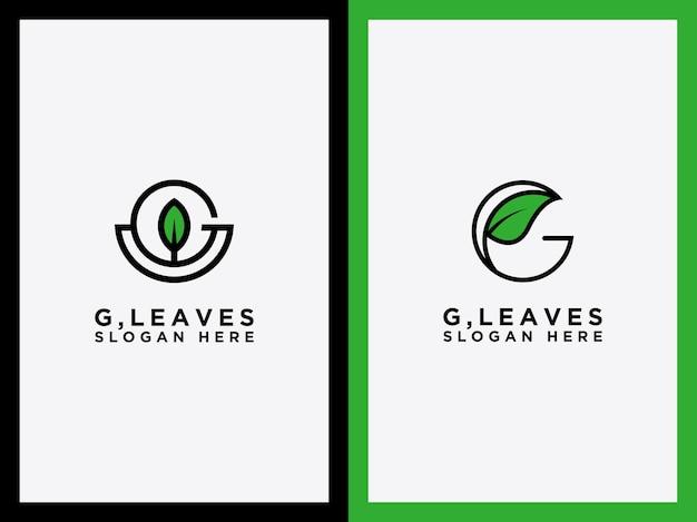 Modelo o ícone do conjunto de folhas g é abstrato ícone ecológico simples